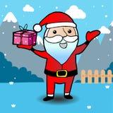 Kerstkaart met de Kerstman Royalty-vrije Stock Afbeeldingen