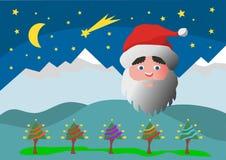 Kerstkaart met de Kerstman Royalty-vrije Stock Afbeelding