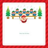 Kerstkaart met de Kerstman Stock Fotografie