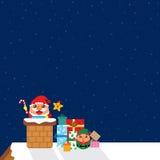 Kerstkaart met de Kerstman Stock Foto