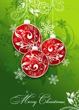 Kerstkaart met een ornament, vector Stock Afbeeldingen