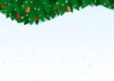 Kerstkaart met exemplaarruimte voor tekst royalty-vrije illustratie