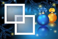Kerstkaart met fotoframe vector illustratie