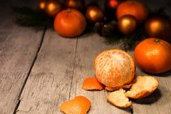 Kerstkaart met fruitkader Stock Afbeeldingen