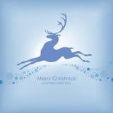 Kerstkaart met herten Stock Afbeelding