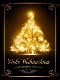 Kerstkaart met het Duits Royalty-vrije Stock Afbeeldingen