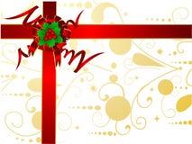 Kerstkaart met hulst Royalty-vrije Stock Foto's