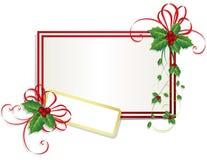 Kerstkaart met hulstbessen Royalty-vrije Stock Afbeeldingen