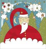 Kerstkaart met Kerstman Stock Foto's