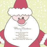 Kerstkaart met Kerstman. Vector illustratie Royalty-vrije Stock Fotografie