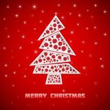 Kerstkaart met Kerstmisboom Stock Foto's