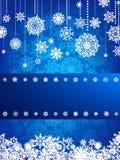 Kerstkaart met Kerstmissneeuwvlok. EPS 8 Stock Foto's
