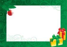 Kerstkaart met lege spatie voor tekst stock illustratie