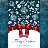 Kerstkaart met Marry Kerstmiswensen Stock Foto's
