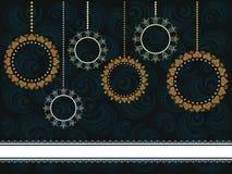 Kerstkaart met ornamenten royalty-vrije illustratie