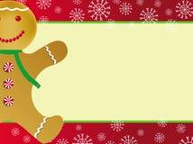 Kerstkaart met peperkoek Royalty-vrije Stock Afbeeldingen