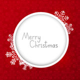 Kerstkaart met rond kader Stock Foto