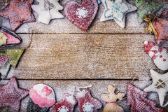 Kerstkaart met ruimte voor tekst Royalty-vrije Stock Foto