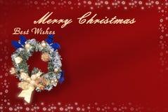 Kerstkaart met ruimte voor wensen royalty-vrije illustratie