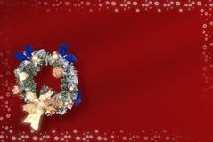 Kerstkaart met ruimte voor wensen stock illustratie