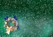 Kerstkaart met ruimte voor wensen vector illustratie