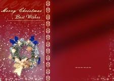 Kerstkaart met ruimte voor wensen Stock Afbeelding