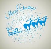 Kerstkaart met santa Stock Foto