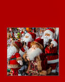 Kerstkaart met Santa Clauses zonder ondertitels Royalty-vrije Stock Foto's