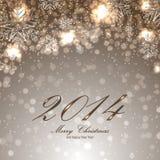 Kerstkaart met sneeuwvlokken Royalty-vrije Stock Afbeelding