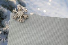 Kerstkaart met sneeuwvlokken Royalty-vrije Stock Fotografie