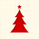 Kerstkaart met spar Vector eps-10 Stock Afbeeldingen