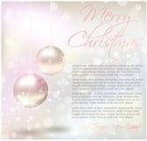 Kerstkaart met tekststeekproef royalty-vrije illustratie