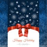 Kerstkaart met Vakantiewensen Royalty-vrije Stock Afbeelding