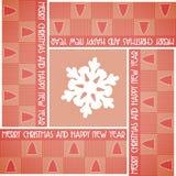 Kerstkaart met vierkanten Royalty-vrije Stock Foto's