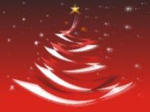 Kerstkaart in rode kleur Royalty-vrije Stock Foto's