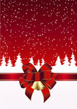 Kerstkaart in rood en wit Royalty-vrije Stock Foto's
