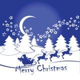 Kerstkaart of uitnodiging met een hert Royalty-vrije Stock Afbeelding