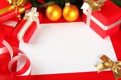 Kerstkaart van gelukwensen Stock Foto's