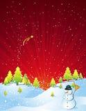 Kerstkaart, vector Stock Afbeeldingen