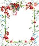 Kerstkaart voor tekst Stock Foto