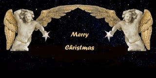 Kerstkaart Vrolijke Kerstmis Stock Foto