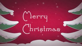 Kerstkaartanimatie stock videobeelden