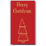 Kerstkaartboom Stock Afbeelding