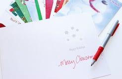 Kerstkaarten Stock Foto