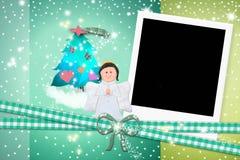 Kerstkaartengel Royalty-vrije Stock Afbeeldingen