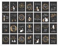 Kerstkaartinzameling Stock Afbeeldingen