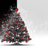 Kerstkaartmalplaatje Stock Fotografie