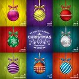 Kerstkaartmalplaatjes Royalty-vrije Stock Afbeelding