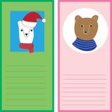 Kerstkaartmalplaatjes Geplaatste Kerstmisaffiches Royalty-vrije Stock Foto's
