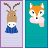Kerstkaartmalplaatjes Geplaatste Kerstmisaffiches Stock Foto